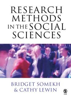 Professor Bridget Somekh, Dr Cathy Lewin Research Methods in the Social Sciences 2004