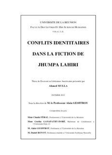 conflits identitaires dans la fiction de jhumpa lahiri