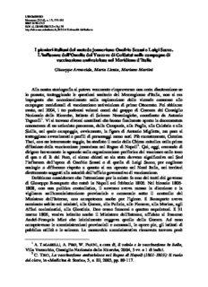 I pionieri italiani del metodo jenneriano Onofrio Scassi e Luigi Sacco. L'influenza dell'Omelia del
