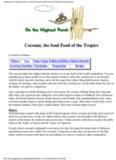 Vegetarians in Paradise/Coconut History/Coconut Nutrition/Coconut