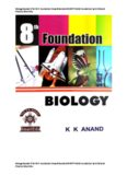 Biology Booklet 2 for 8 th Foundation Class 8 Standard 8 KVPY NSEJS Foundation