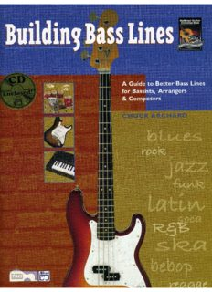Building Bass Lines: A Guide to Better Bass Lines for Bassists, Arrangers & Composers