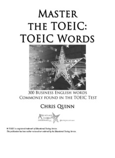 Master the TOEIC-TOEIC Words