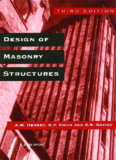 Design of Masonry Structures, Third Edition of Load Bearing
