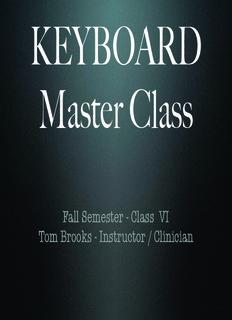 Keyboard Master Class - Tom Brooks Music