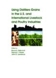 Edited by Bruce A. Babcock Dermot J. Hayes John D. Lawrence Using Distillers Grains in the US ...