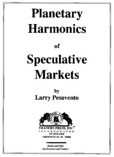 Page 1 Planetary Harmonics - of Speculative Markets by Larry Pesavento - - ſº TRADERS PRESS ...