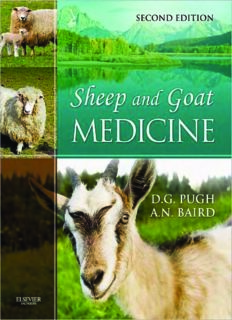 Sheep and Goat 2nd edition - Author D.G. Pugh