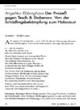 Der Prozeß gegen Tesch & Stabenow. Von der Schädlingsbekämpfung zum Holocaust