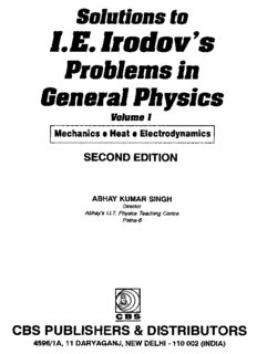 Irodov Problems in Physics Solutions Part 1