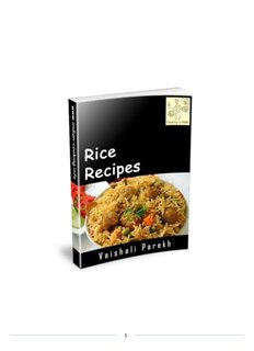 Rice Recipes - Indian Cooking