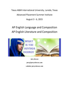 AP English Language and Composition AP English Literature and Composition