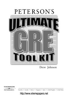 GRE-Ultimate GRE Toolkit.pdf - Papers - XtremePapers