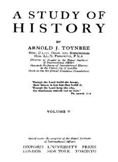 A study of history, Volume 5 - Disintegration of Civilizations