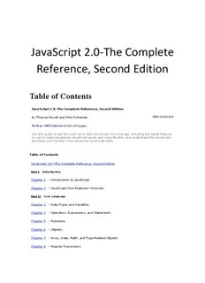 JavaScript 2.0-The Complete Reference, Second Edition