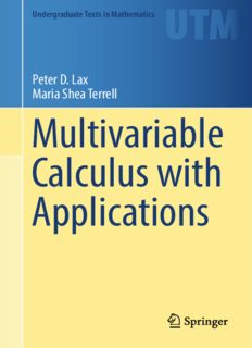 Multivariable Calculus with Applications
