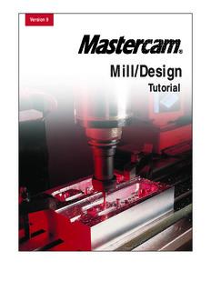 Mastercam Version 9 Mill/Design Tutorial (metric)