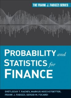 Probability and Statistics for Finance (Frank J. Fabozzi Series)