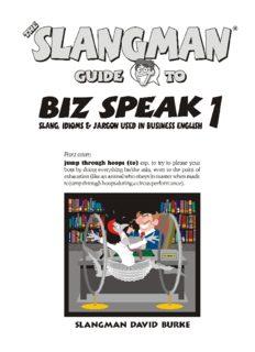The Slangman Guide to Biz Speak 1 (Slangman Guides to Biz Speak)