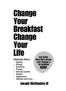 Change Your Breakfast, Change Your Life