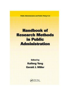 Handbook of Research Methods in Public Administration, Second Edition (Public Administration and Public Policy)
