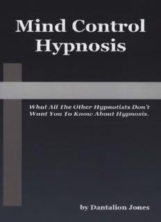 Mind Control Hypnosis – Dantalion Jones