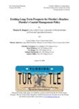 Thomas K. Ruppert, Eroding Long-Term Prospects for Florida's Beaches