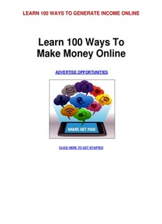 Learn 100 Ways To Make Money Online