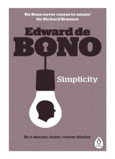 Simplicity - Edward de Bono