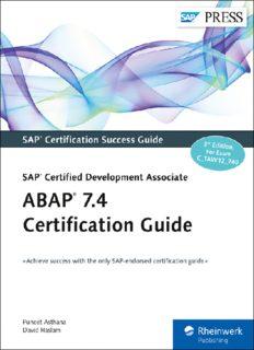 ABAP 7.4 Certification Guide : SAP Certified Development Associate