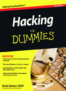 Hacking For Dummies, 3rd Edition