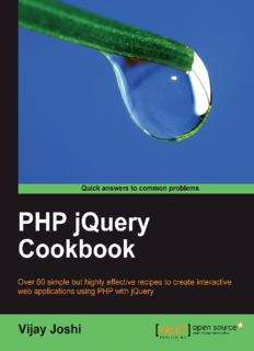 PHP jQuery Cookbook - [Joshi].pdf