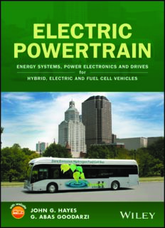 Electric powertrain : energy systems, power electronics & drives for hybrid, electric & fuel cell vehicles