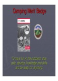 Camping Merit Badge - Home - Merit Badges and Eagle Scout Resources