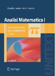Analisi Matematica I: Teoria ed esercizi con complementi in rete (UNITEXT   La Matematica per il 3+2)