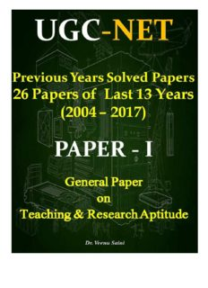 UGC NET Ppaer-1 Previous Years Solved Papers