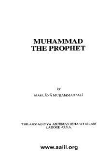 Muhammad the Prophet by Maulana Muhammad Ali