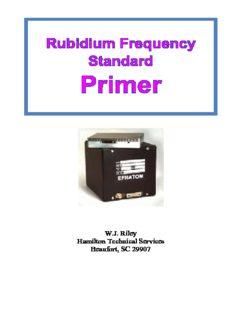 W.J. Riley, Rubidium Frequency Standard Primer.