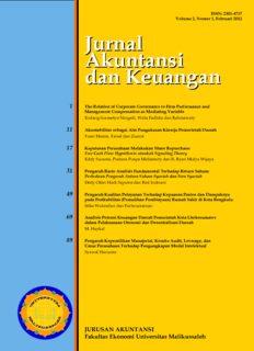 Jurnal Akuntansi dan Keuangan Jurnal Akuntansi dan Keuangan