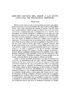 edición crítica del dezir a las syete virtudes de francisco imperial