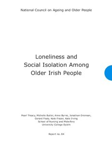 Loneliness and Social Isolation Among Older Irish People