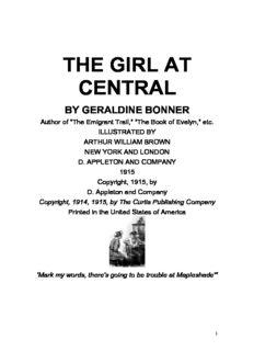 Bonner, Geraldine, THE GIRL AT CENTRAL - Conaculta