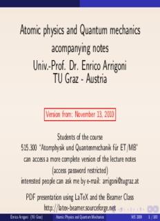 Atomic Physics and Quantum Mechanics