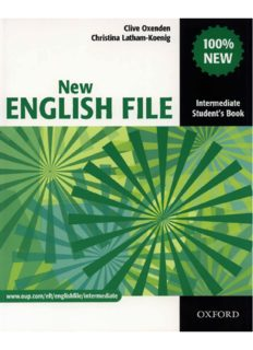 New English File Intermediate Student's Book