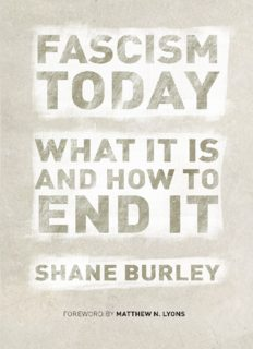 Fascism today : what it is and how to endit