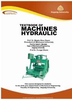 Hydraulic Machines Textbook