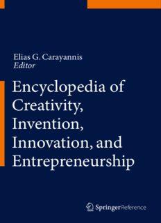 Encyclopedia of Creativity, Invention, Innovation, and Entrepreneurship