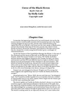 Holly Lisle - Bard's Tale 08 - Curse of the Black Heron