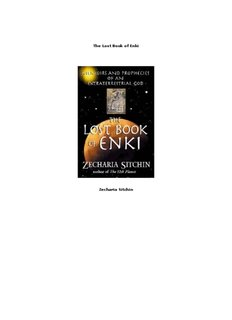 The Lost Book of Enki Zecharia Sitchin - MyCuriousBrain.com