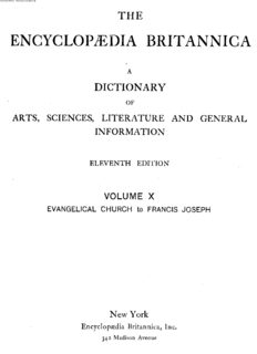 Encyclopedia Britannica. 11th edition. Volume 10